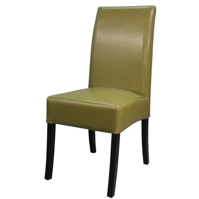 Valencia Parsons Chair Upholstery: Wasabi, Finish: Dark Brown