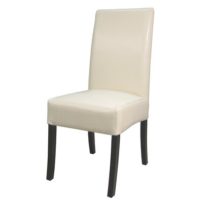 Kimberling Parsons Chair Finish: Black, Upholstery: Beige
