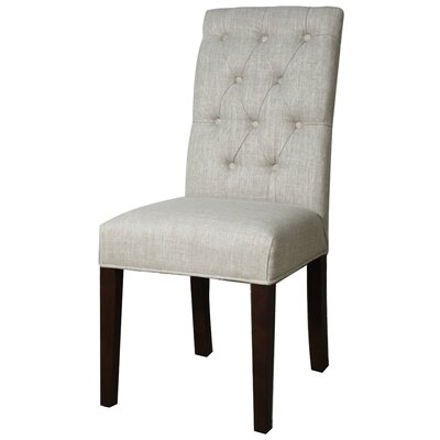 Gwendoline Side Chair Finish: Espresso, Upholstery: Rice