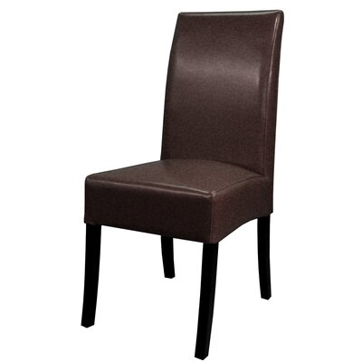 Kimberling Parsons Chair Finish: Black, Upholstery: Brown