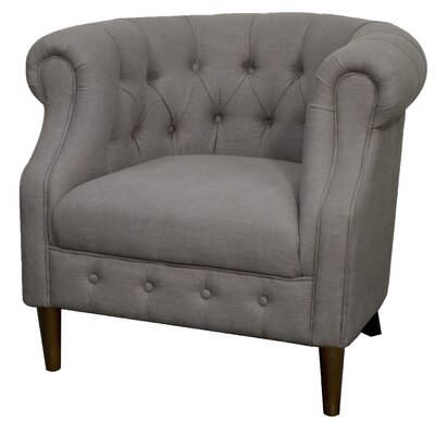 Luna Chesterfield Chair Upholstery: Gunmetal