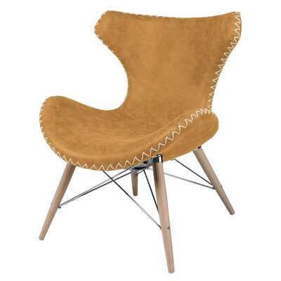 Ceylon Lounge Chair Upholstery: Antique Caramel