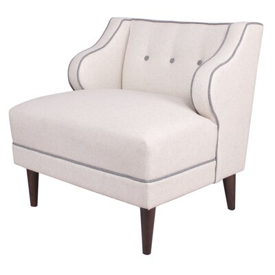 Rochelle Fabric Lounge Chair Color: Oatmeal