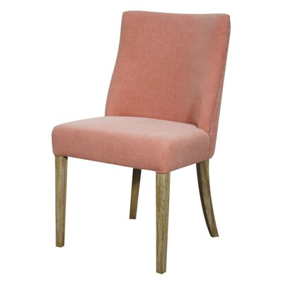 New Paris Fabric Side Chair Color: Coral