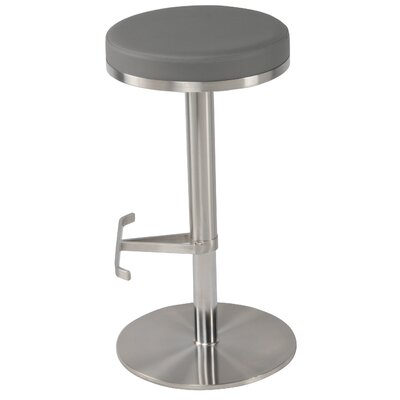 Theon 22 Swivel Bar Stool Upholstery: Gray
