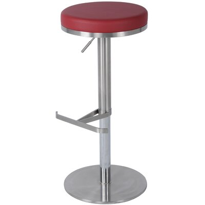 Theon 22 inch Swivel Bar Stool Upholstery: Red