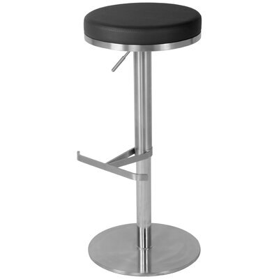 Theon 22 Swivel Bar Stool Upholstery: Black