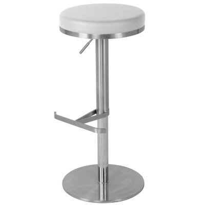 Theon 22 Swivel Bar Stool Upholstery: White