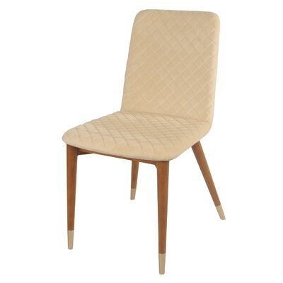 Kerry Side Chair Color: Brandy Cream