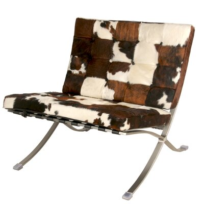 Barca Cowhide Slipper Chair