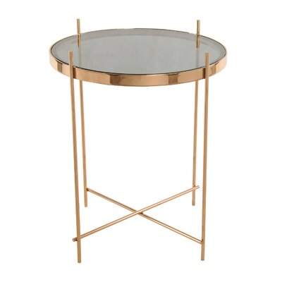 Travan End Table Color: Rose Gold