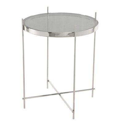 Travan End Table Color: Stainless Steel