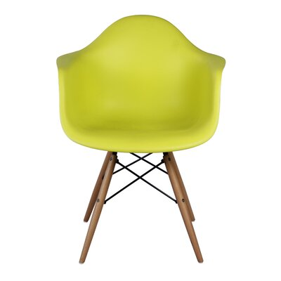 Pospisil Arm Chair with Wooden Legs Finish: Lime