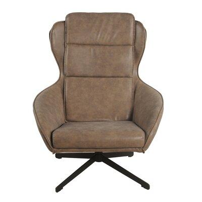 Gayle Swivel Arm Chair Upholstery: Nubuck Latte