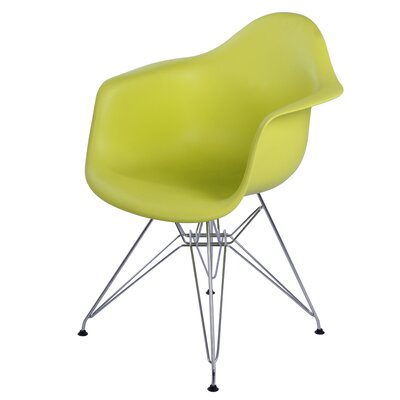 Pospisil Arm Chair with Metal Wire Legs Finish: Lime