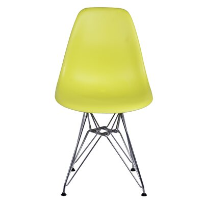 Essence Side Chair with Metal Wire Legs Finish: Lime