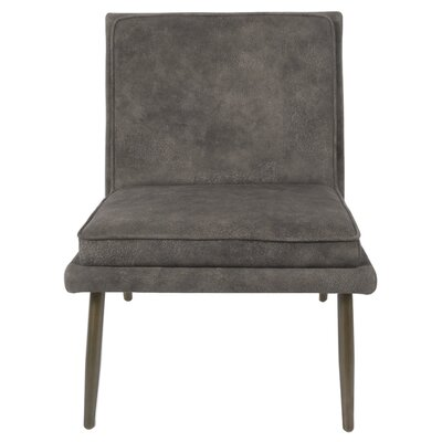 Auden Slipper Chair Upholstery: Pewter Hide