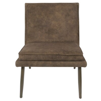 Auden Slipper Chair Upholstery: Mocha Hide