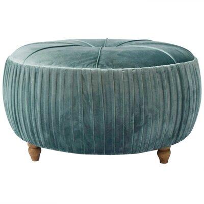 Caress Round Ottoman Upholstery: Emerald