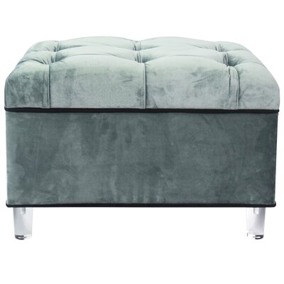 Mineo Storage Ottoman Upholstery: Emerald