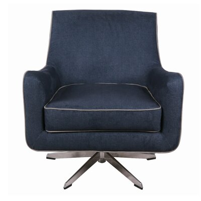 Harwich Swivel Armchair Upholstery: Denim Slate