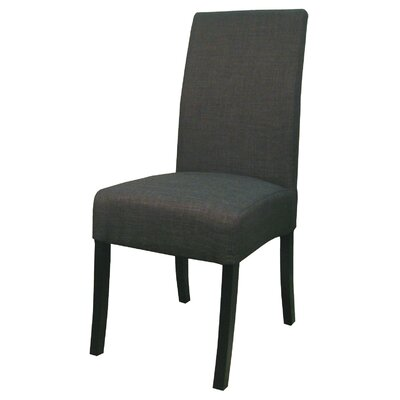 Bartram Upholstered Dining Chair Color: Charcoal