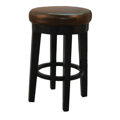 Cameron 25 Swivel Bar Stool with Cushion Upholstery: Brown