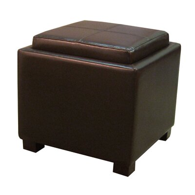 Venzia Ottoman Upholstery: Brown