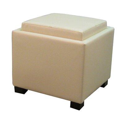 Venzia Storage Ottoman Upholstery: Beige