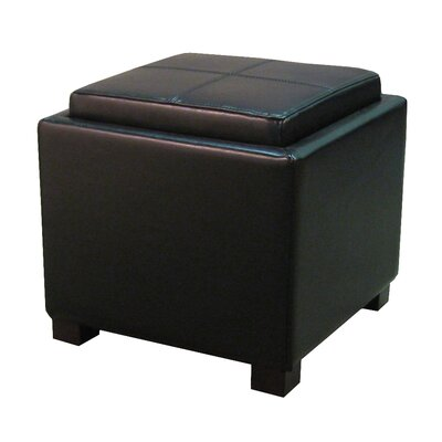 Venzia Ottoman Upholstery: Black