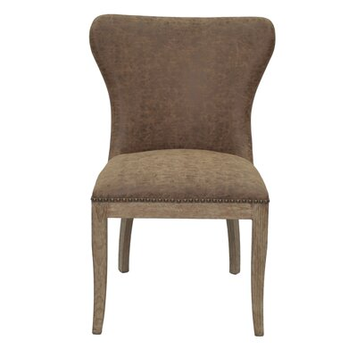 Burkinshaw Side Chair Upholstery: Nubuck Chocolate