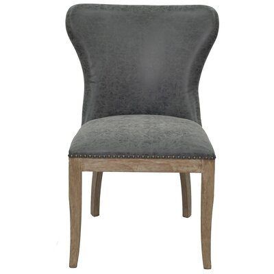 Clemons Side Chair Upholstery: Nubuck Charcoal
