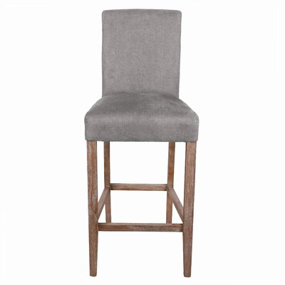 Hickman 29 inch Bar Stool Upholstery: Denim Dove