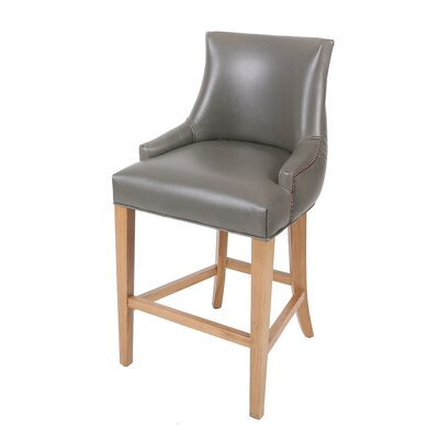Killian 26.5 Bar Stool Upholstery: Vintage Gray