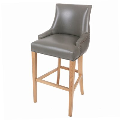 Killian 30.5 Bar Stool Upholstery: Vintage Gray