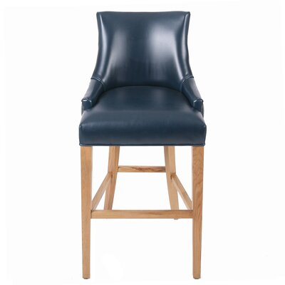 Killian 30.5 Bar Stool Upholstery: Vintage Blue