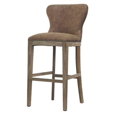 Clemons 30 Bar Stool Upholstery: Nubuck Chocolate