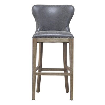Burkinshaw 30 Bar Stool Upholstery: Nubuck Charcoal