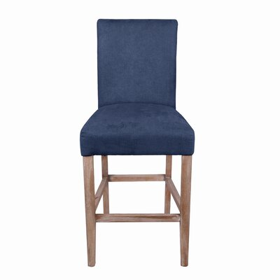 Torkelson 26 Bar Stool Upholstery: Denim Slate