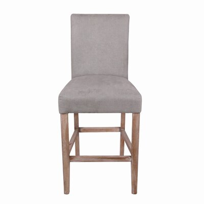 Torkelson 26 Bar Stool Upholstery: Denim Gray