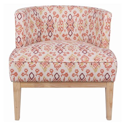 Blondene Ikat Low Back Barrel Chair