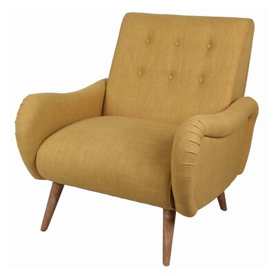 Blondell Tufted Arm Chair Upholstery: Yellow