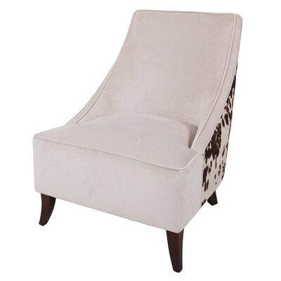 Westfir Cowhide Slipper Chair