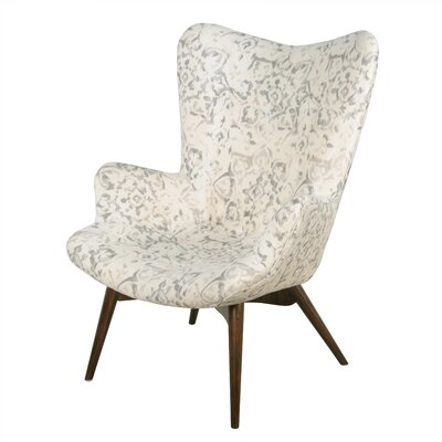 Alingtons Wingback Chair Upholstery: Smoky Petal