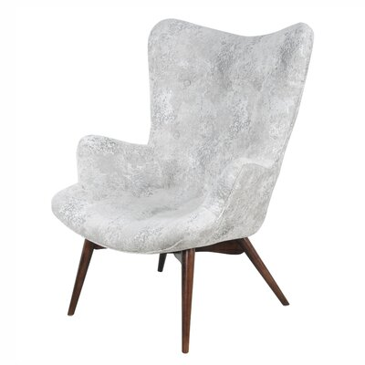 Alingtons Wingback Chair Upholstery: Crackle Hematite