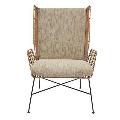 Blondelle Rattan Wingback Chair