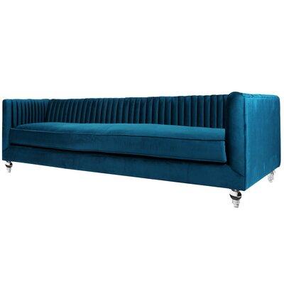 Shela Chesterfield Sofa Upholstery: Loyal Blue