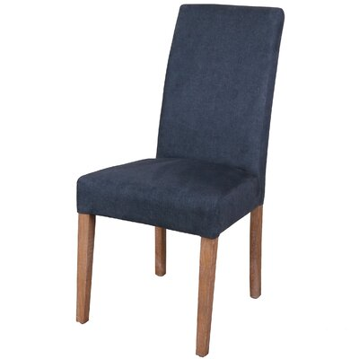 Hickman Denim Dining Side Chair Upholstery: Denim Slate