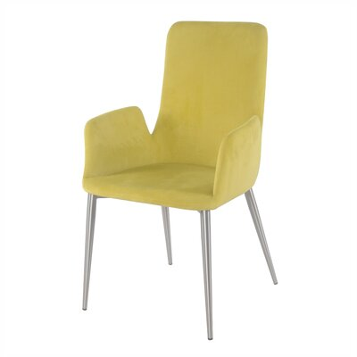 Cherlyn Dining Arm Chair Upholstery: Citrine