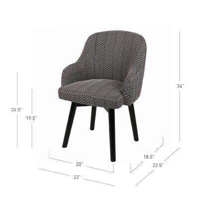 Brette Herringbone Swivel Arm Chair